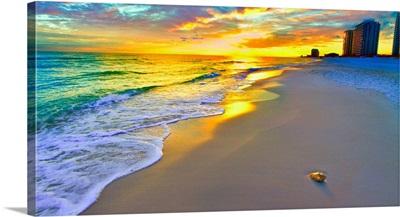 Panoramic-Beach-Sunset-Wall- -Prints
