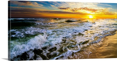 Panoramic Landscape With Beautiful Sunset