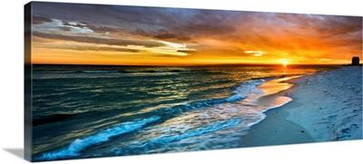 Panoramic Orange Sunset