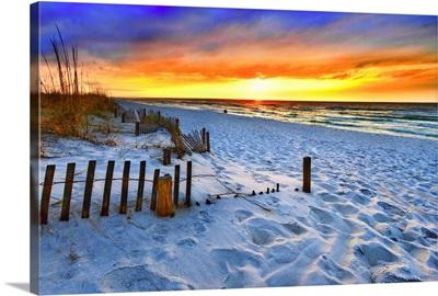 Red Sunset Beach Beautiful Beach Landscape