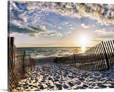 Rosemary Beach Sunset 30A Foot Prints In Sand