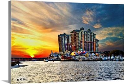 Sea Sunset Destin Emerald Grande Harbor Walk