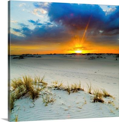 Sun Burst Breaking Cloud-Desert Sunrise