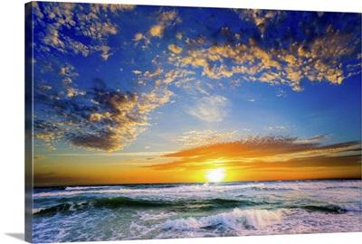 Sunset Orange Blue Florida Sunset Beautiful Beach