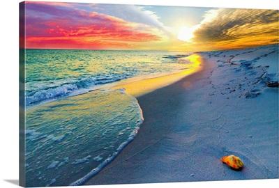 Sunset Wall  Beach Shell Landscape