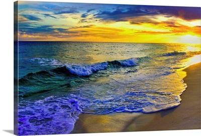 Yellow Sunset Beach Shore