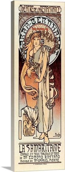 1897 Poster for The Samaritan, with Sarah Bernhardt. By Alphonse Maria Mucha