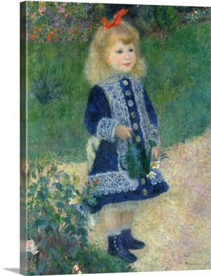 A Girl with a Watering Can, by Auguste Renoir, 1876