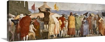 A New World (Crowd Waiting To See The Cosmos), Fresco By Giandomenico Tiepolo, 1791