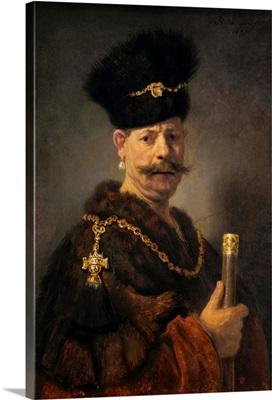 A Polish Nobleman, by Rembrandt van Rijn, 1637