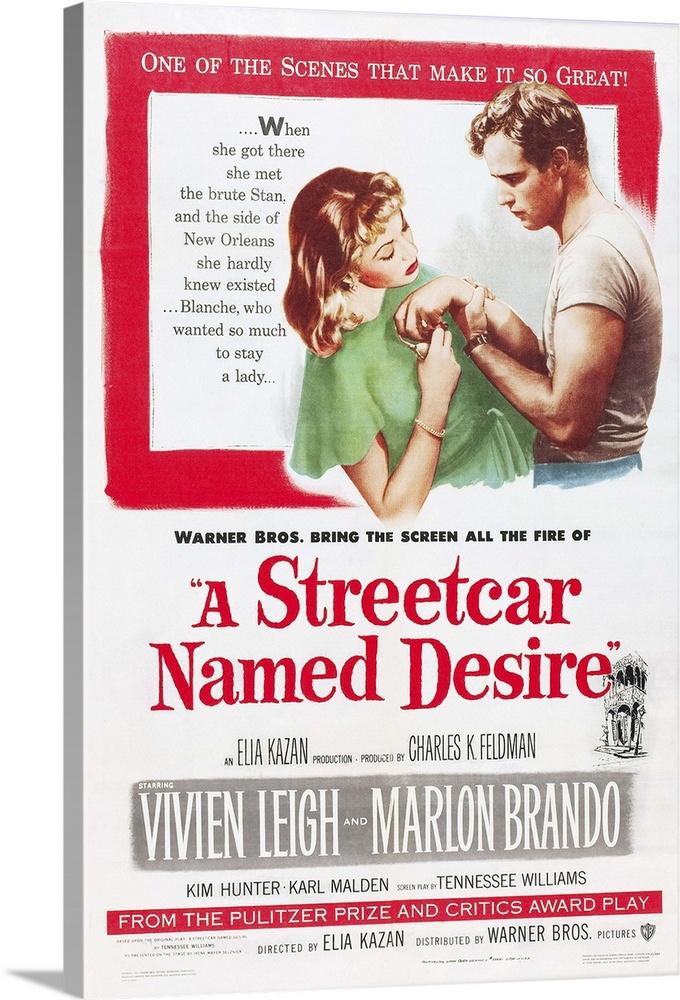 Art A Streetcar Named Desire Framed Movie Poster