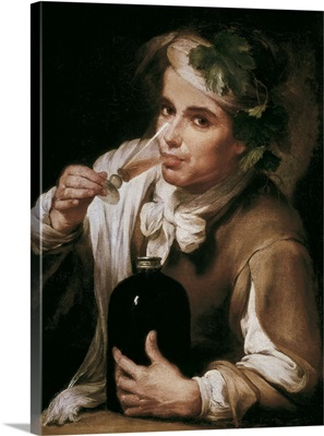 A Young Man Drinking