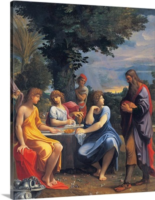 Abraham and the Three Angels, by Ludovico Carracci, ca. 1600. National Gallery, Bologna