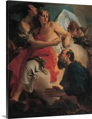 Abraham Praying before the Three Angels, by Giambattista Tiepolo, 1731-1732. Venice
