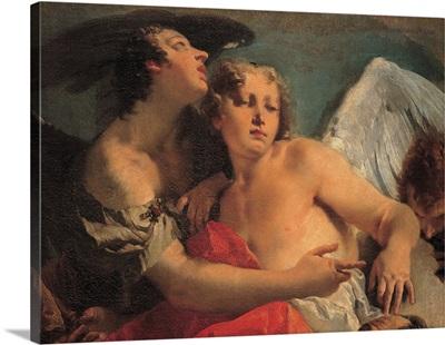 Abraham Praying before the Three Angels, detail, by Giambattista Tiepolo, 1731-1732