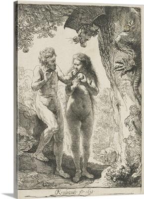Adam and Eve, by Rembrandt van Rijn, 1638