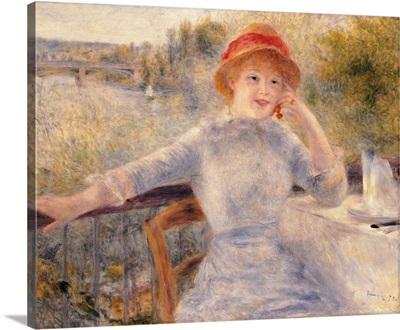 Alphonsine Fournaise, by Pierre-Auguste Renoir, ca. 1879. Musee d'Orsay, Paris, France