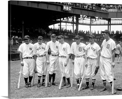American League baseball greats in the line-up of the 5th All-Star Game, 1937