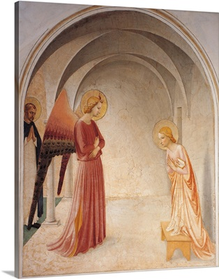 Annunciation, By Beato Angelico, 1438-1446. Florence, Italy