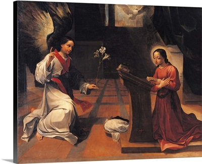 Annunciation, By Ludovico Carracci, C.1585. National Gallery, Bologna, Italy