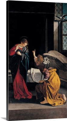 Annunciation, by Orazio Gentileschi, 1633, Genoa, Italy