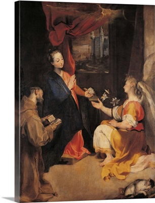 Annunciation With St Francis, By Barocci, 17Th C. Brera Gallery, Milan, Italy