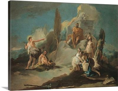 Apollo and Marsyas, by Tiepolo Giambattista, c. 1720-1721. Accademia Art Galleries