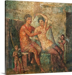 Ares And Aphrodite Ancient Roman Fresco C 62 79 Casa
