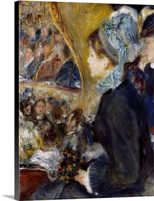 At the Theatre 1876, By French impressionist Pierre Auguste Renoir