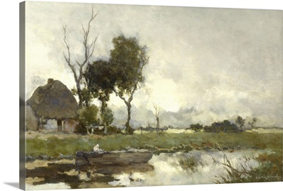 Autumn Landscape, c. 1875-1903, Dutch painting, oil on canvas