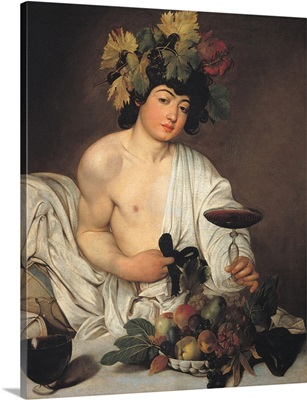 Bacchus, by Caravaggio, c. 1596-1597. Uffizi Gallery, Florence, Italy