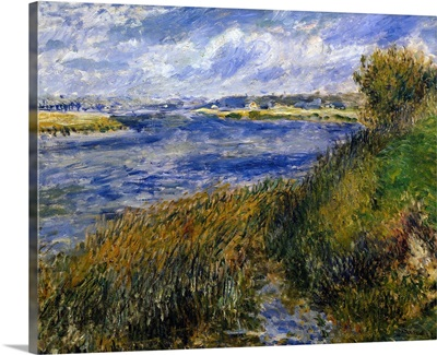 Banks of the Seine, Champrosay. 1876. By Pierre-Auguste Renoir. Orsay Museum