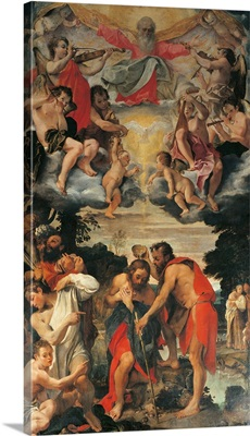Baptism of Christ, by Annibale Carracci, 1585. San Gregorio Church, Bologna, Italy