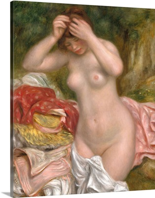 Bather Arranging Her Hair, by Auguste Renoir, 1893