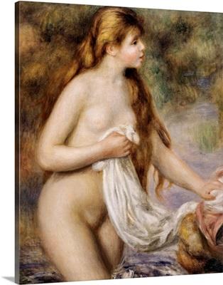 Bather with Long Hair. Ca. 1895. By Pierre-Auguste Renoir. Orangerie Museum