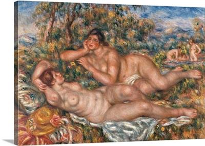 Bathers, By Pierre-Auguste Renoir, Ca. 1918-1919. Musee D'Orsay, Paris, France