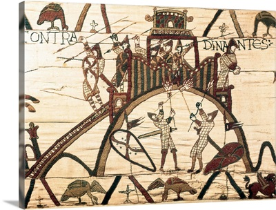 Bayeux Tapestry. 1066-1077. Detail of the attack to the Dinan castle in Brittany