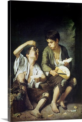 Beggar Boys Eating Grapes and Melon. 1645-46