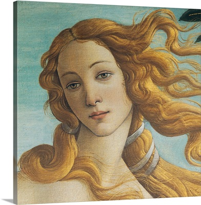 Birth Of Venus, Head Of Venus, By Botticelli, 1484-1485. Uffizi Gallery, Florence