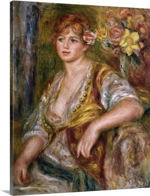 Blonde Woman with a Rose. Ca. 1915. By Pierre-Auguste Renoir. Orangerie Museum