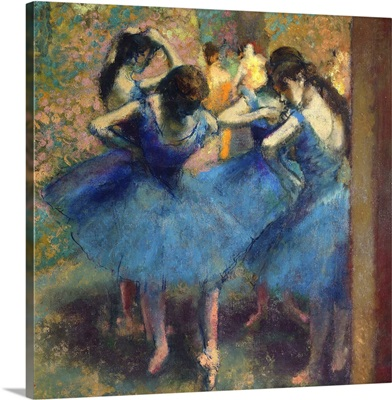 Blue Dancers, 1890, Painting by French Impressionist Edgar Degas