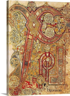 Book of Kells. 8th-9th c. Chapter letter from the gospel. Anglo-Irish art