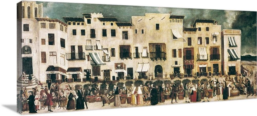 Borne Market Of Barcelona Next To Church Of Santa Maria Del Mar C 1775