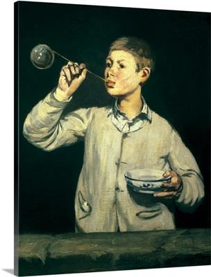 Boy blowing bubbles, 1867