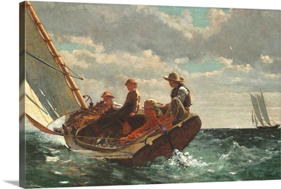 Breezing Up (A Fair Wind), by Winslow Homer, 1873-76