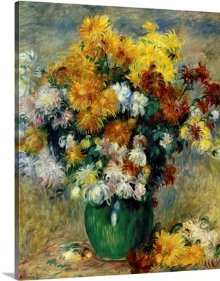 Bunch of Chrysanthemums, by 19th century French impressionist Pierre Auguste Renoir