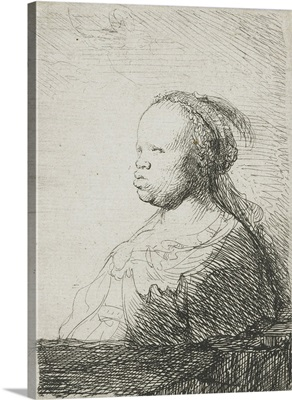 Bust of an African woman, by Rembrandt van Rijn, 1628-32