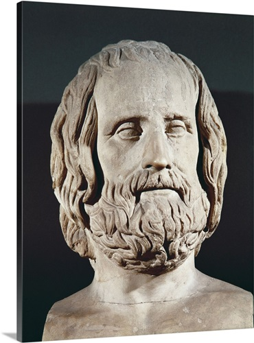 bust of euripides 5th c bc greek art wall art canvas prints