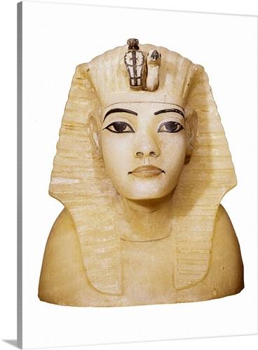 Canopic Vase Lid With Tutankhamens Effigy Egyptian Art Wall Art