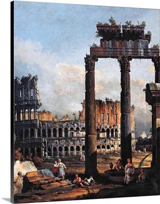 Capriccio with the Coliseum, by Bernardo Bellotto, 1746. National Gallery, Parma, Italy